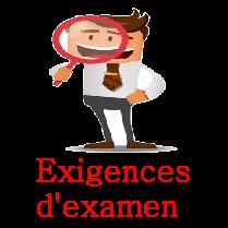 Exigences examen